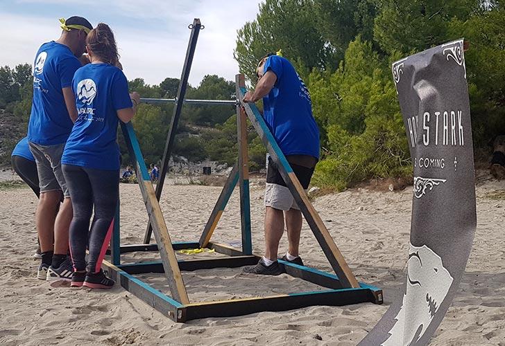 Construction d'une catapulte - activité team building